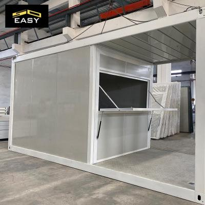building a 20 ft inside shipping tiny container shop in Singapore